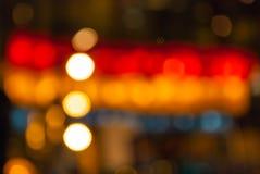 Ljus för elektriska lampor för suddighet färgglat Fotografering för Bildbyråer