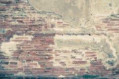 Ljus för färg för stuckatur för abstrakt bakgrund för tegelstenvägg gammalt - grå dir Royaltyfri Foto