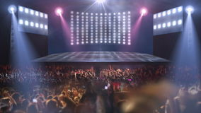 Ljus för folkmassakonsertetapp 3d royaltyfri illustrationer