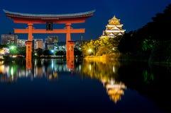 Ljus för Hiroshima stadsnatt Royaltyfri Fotografi