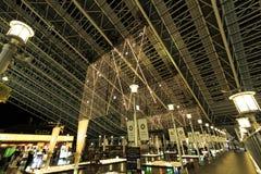 Ljus för jul för OSAKA STATIONSSTAD royaltyfria bilder