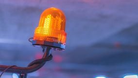 Ljus för lampa för faravarningsbillykta fotografering för bildbyråer