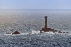 Ljus för Longshipï ¿ ½ s, Wolf Rock Lighthouse royaltyfria bilder