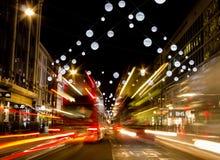Ljus för Oxford gatajul Arkivfoto