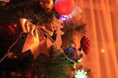 Ljus för ` s för nytt år Arkivfoto