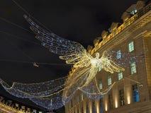 """Ljus för ` s för jul 2017†""""London vibrerande festliga arkivfoto"""