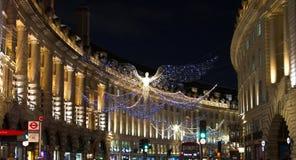 """Ljus för ` s för jul 2017†""""London vibrerande festliga arkivbilder"""