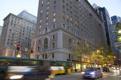 Ljus för Seattle stadsafton Arkivbild