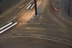 Ljus för stadsgatanatt royaltyfri bild