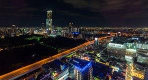 Ljus för Tennoji stationsnatt Royaltyfri Fotografi