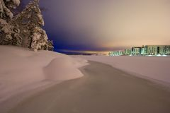 Ljus föroreningseascape fotografering för bildbyråer