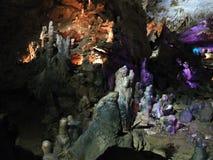 Ljus felik show i grottan av Prometheus Royaltyfri Foto
