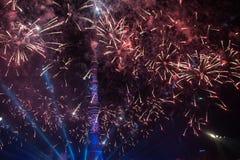 Ljus festival 2014 i Moskva Arkivbild