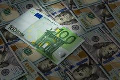 Ljus fläck för euro Arkivbild