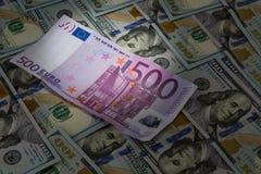 Ljus fläck för euro Arkivfoto