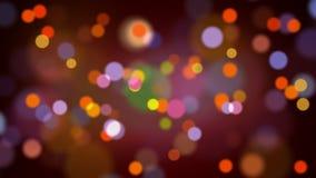 Ljus flyttning för bokehpartikelögla stock video