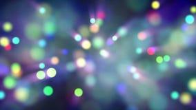 Ljus flyttning för partikelbokehögla stock video