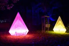 Ljus flyttningfestival, Lodz Arkivfoton