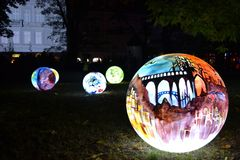 Ljus flyttningfestival, Lodz Royaltyfri Foto