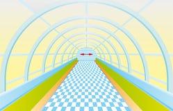 ljus fot- tunnel för slut stock illustrationer