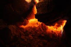 Ljus från glöden Arkivfoto