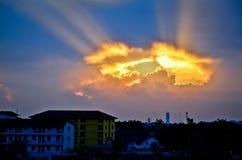 Ljus från himlen Arkivbilder