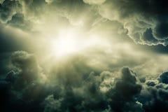 Ljus från solen Arkivbilder