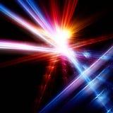 Ljus fractal på svart bakgrund Royaltyfria Foton