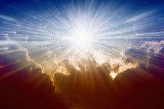 Ljus från avobe Arkivbild