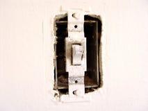 ljus gammal strömbrytare arkivbilder