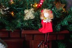 Ljus garnering för jul Fotografering för Bildbyråer
