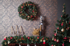 Ljus garnering för jul Arkivfoto