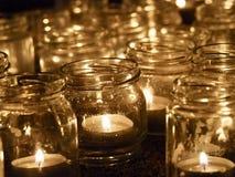 Ljus garnering för stearinljus royaltyfria foton