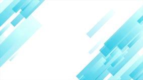 Ljus - geometrisk rörelsedesign för blå abstrakt tech stock video