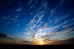 ljus glödande solnedgång Royaltyfri Fotografi