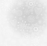 Ljus-grå färg abstrakt bakgrund med snowflaken Arkivbilder