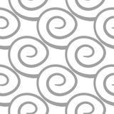Ljus - grå geometrisk prydnad seamless modell stock illustrationer