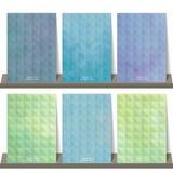 Ljus - grön blå geometrisk samlingsbakgrund för baner, fluga Royaltyfri Bild