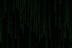 Ljus - grön digital matris för textformuleringbakgrund som faller från överkant arkivfoton