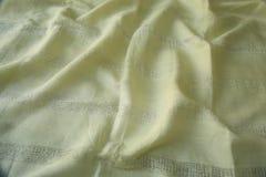 Ljus - grön Textued torkduk som är ordnad i en modell Royaltyfri Fotografi