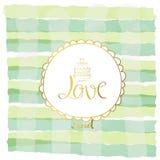 Ljus - grön vit bandpastell med förälskelsecirkeln i valentin da Arkivfoton