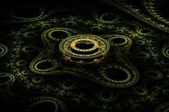 Ljus - gul abstrakt cirkelfractal Royaltyfri Bild