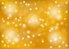 Ljus gul prickbakgrund Arkivbilder
