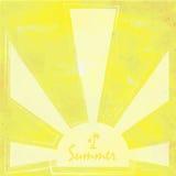 Ljus - gul vit sol och solsken med retro tappningstil och Royaltyfri Bild