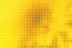 Ljus guld- bakgrund för gulingfyrkantmosaik över vit royaltyfri illustrationer