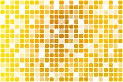 Ljus guld- gul tillfällig ogenomskinlighetsmosaik över vit stock illustrationer