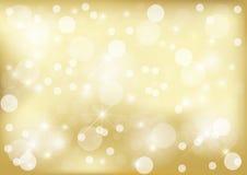 Ljus guld- prickbakgrund Fotografering för Bildbyråer
