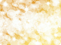 Ljus guld- silver Dot Background Royaltyfri Foto