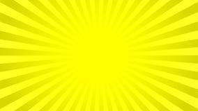 Ljus guling rays bakgrund stock illustrationer