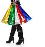 ljus hög paper kvinna för påsekängor royaltyfri fotografi
